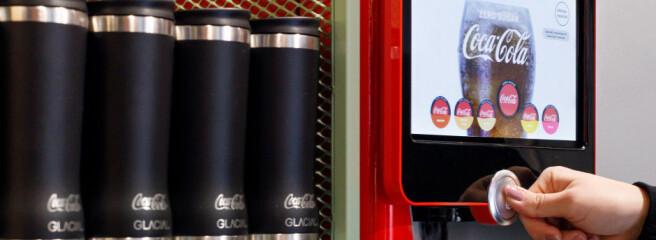Coca-Cola тестирует автомат для розлива бутылок