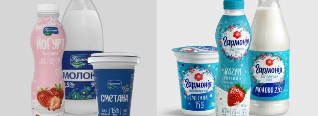 Маркетингова компанія PØLARIS Partners оновила молочний бренд «Гармонія»