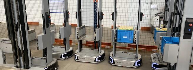 Fozzy Group першою вУкраїні запустила повністю роботизовану складську зону ізроботами типу AGV